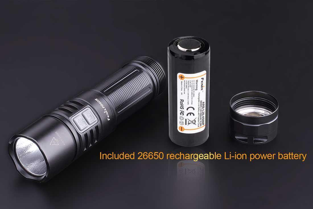 Lanterna Fenix PD40R - 3000 Lúmens - Tática E Recarregável Tudo Que Você Precisa