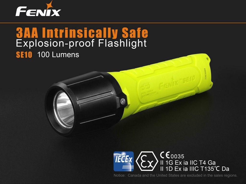 Lanterna Fenix SE10 - Para Ambientes Com Riscos De Explosões - Máximo De 100 Lúmens