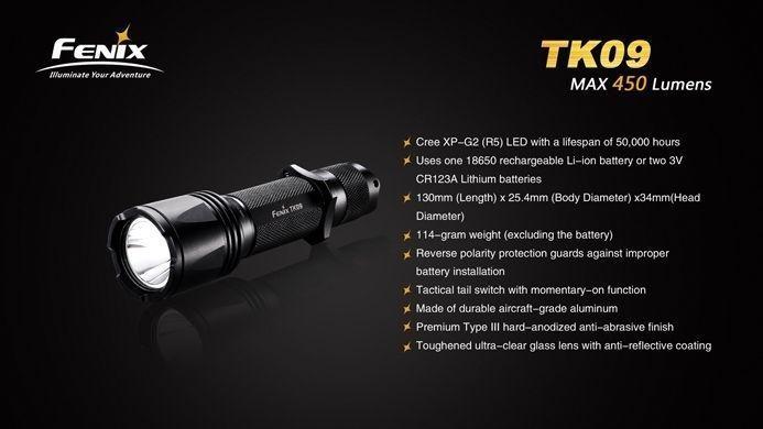 Lanterna Fenix TK09 - Alacance De Até 230m- 450 lumens