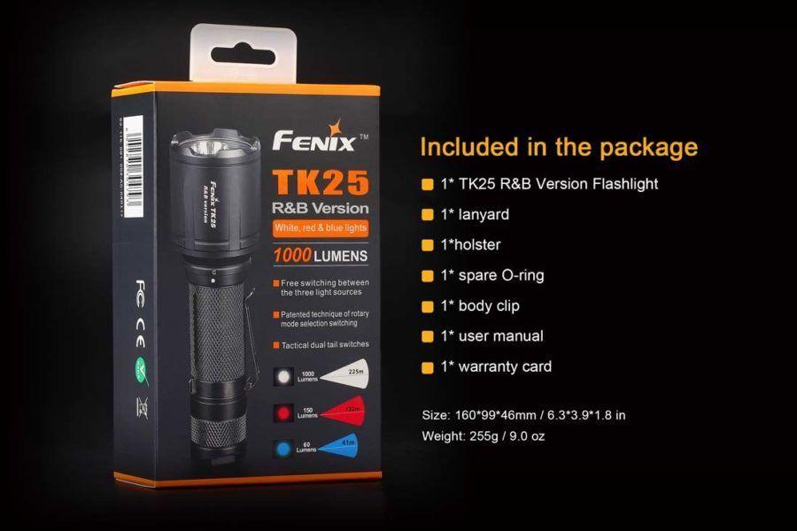 Lanterna Fenix TK25 R&B - Multicolor E Tática