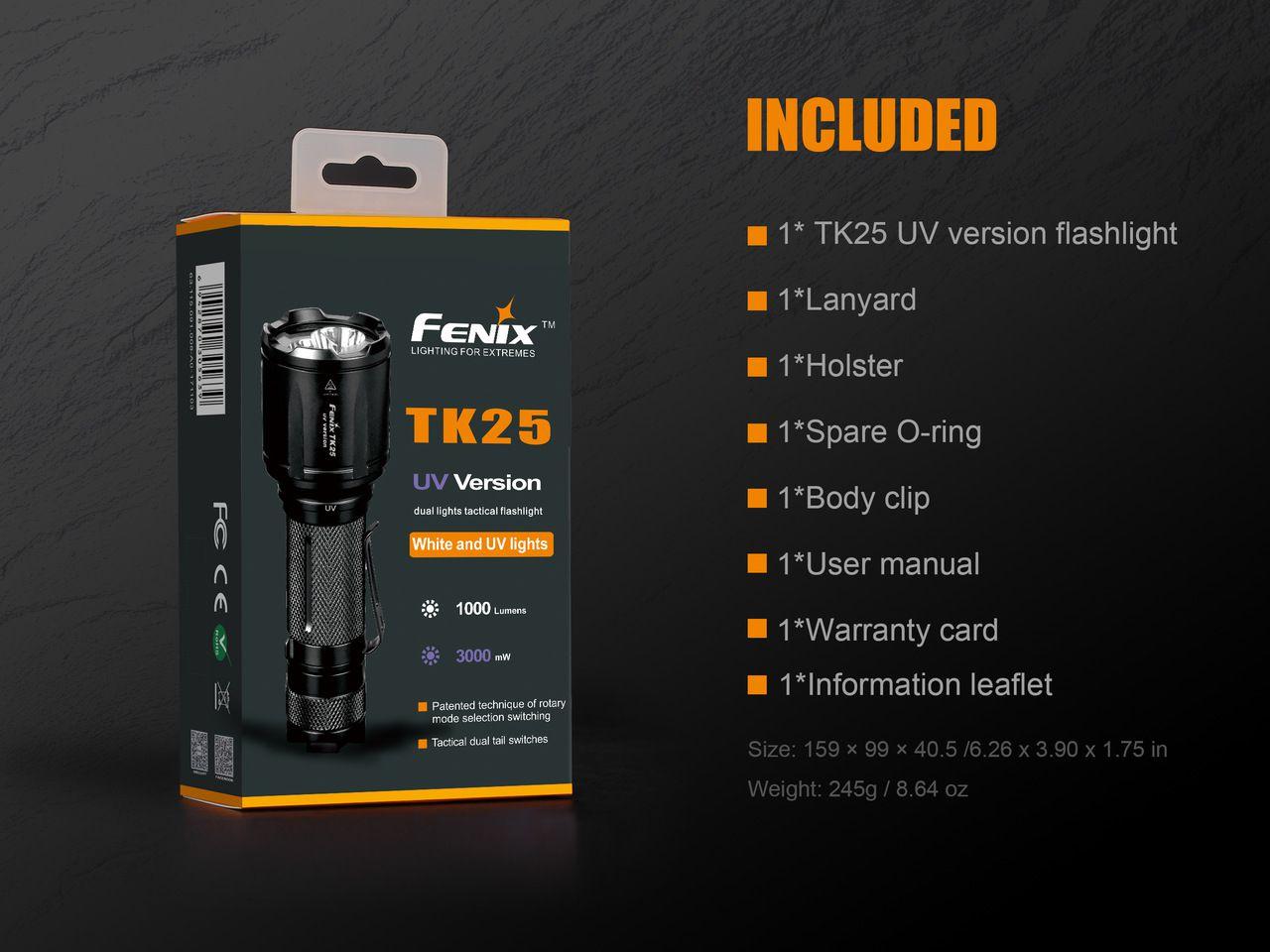 Lanterna Fenix TK25 UV - 1000 Lumens