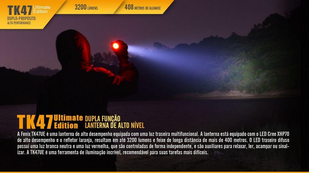 Lanterna Fenix TK47 UE - MultiTarefas Para Seguir O Seu Ritmo