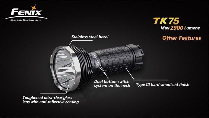 Lanterna Fenix TK75 - Alcance De 690m - 2900 Lumens