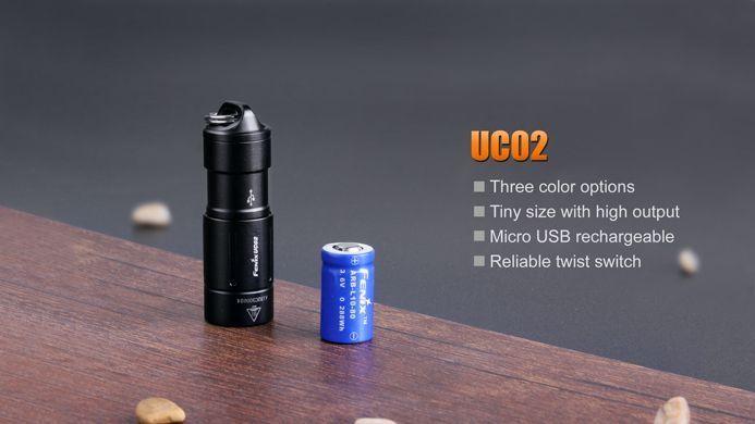 Lanterna Fenix UC02 - Black - 130 Lúmens