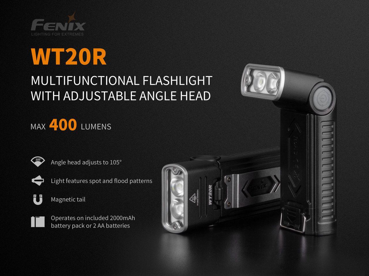 Lanterna Fenix WT20R - 400 Lumens