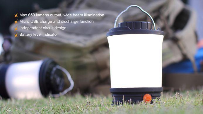 Lanterna FenixCL30R - Para Camping - 650 Lúmens