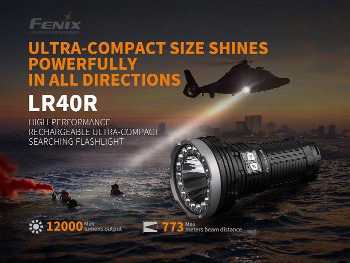 Lanterna Tática Fenix LR40R - 12.000 Lumens