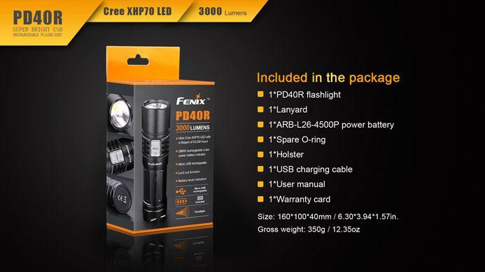 Lanterna Tática Fenix PD40R - 3000 Lúmens
