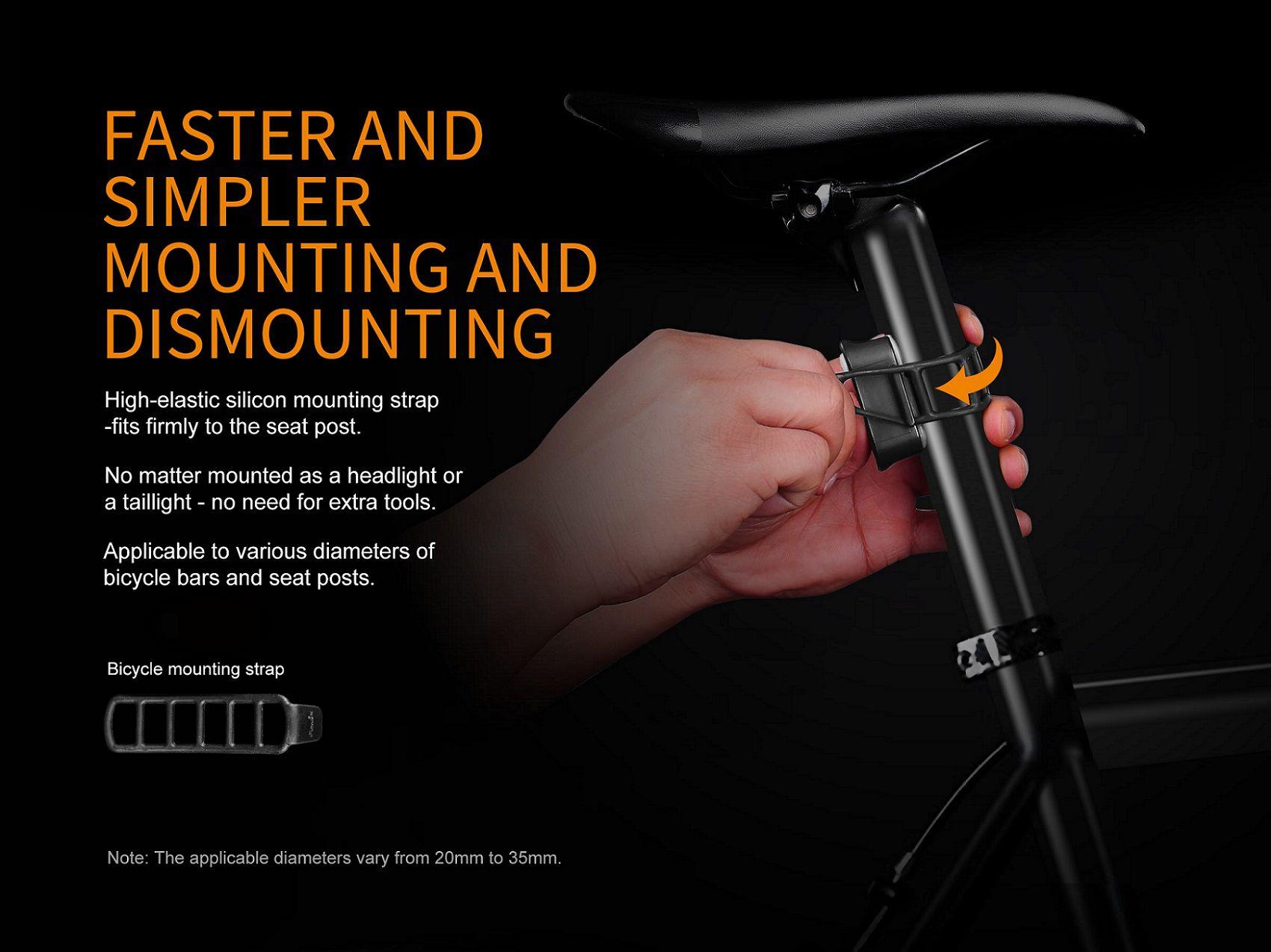 Lanterna Traseira para Bike Fenix BC05R - 10 Lumens