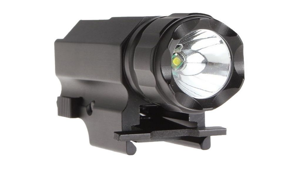 Lanterna Para Pistola Trustfire Com Bateria - Trilho Picatinny TFP10 - 320 Lumens
