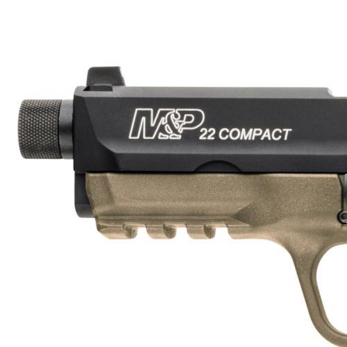 Pistola Smith & Wesson M&P®22 COMPACT CERAKOTE® FLAT DARK EARTH THREADED BARREL