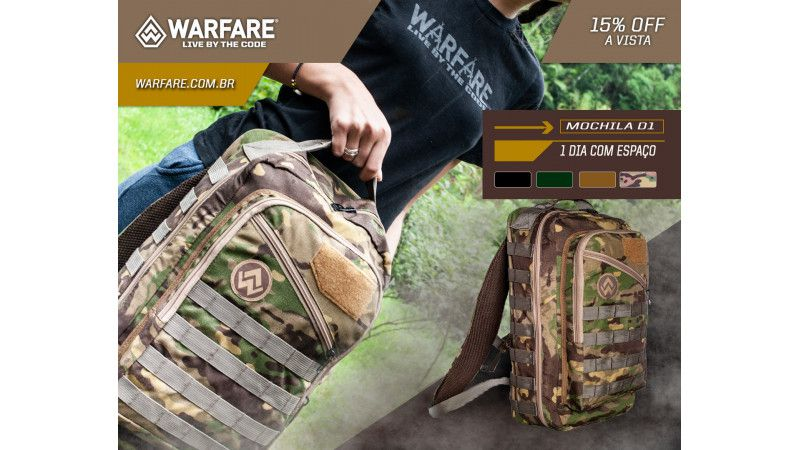 Mochila Warfare 1D Camuflada