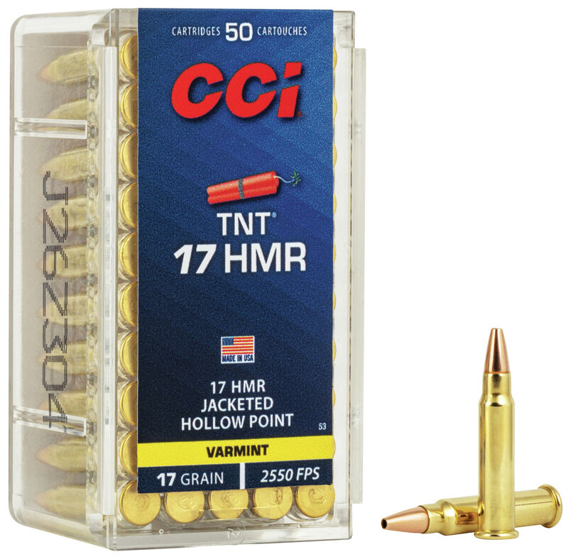 Munição CCI .17HMR TNT
