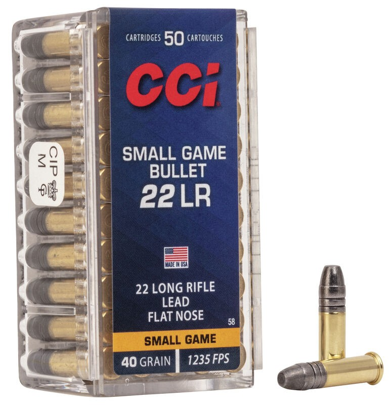 Munição CCI 22LR SGB SMALL GAME 40GR  (VENDA SOB CONSULTA NO WHATSAPP)