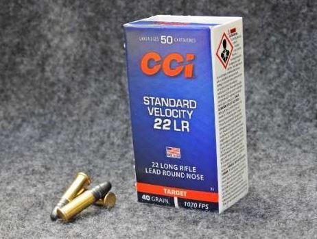 Munição CCI 22LR STANDARD VELOCITY TARGET OGIVAL 40GR  (VENDA SOB CONSULTA NO WHATSAPP)