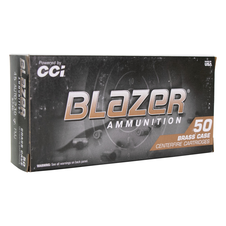 Munição CCI .45ACP Blazer FMJ
