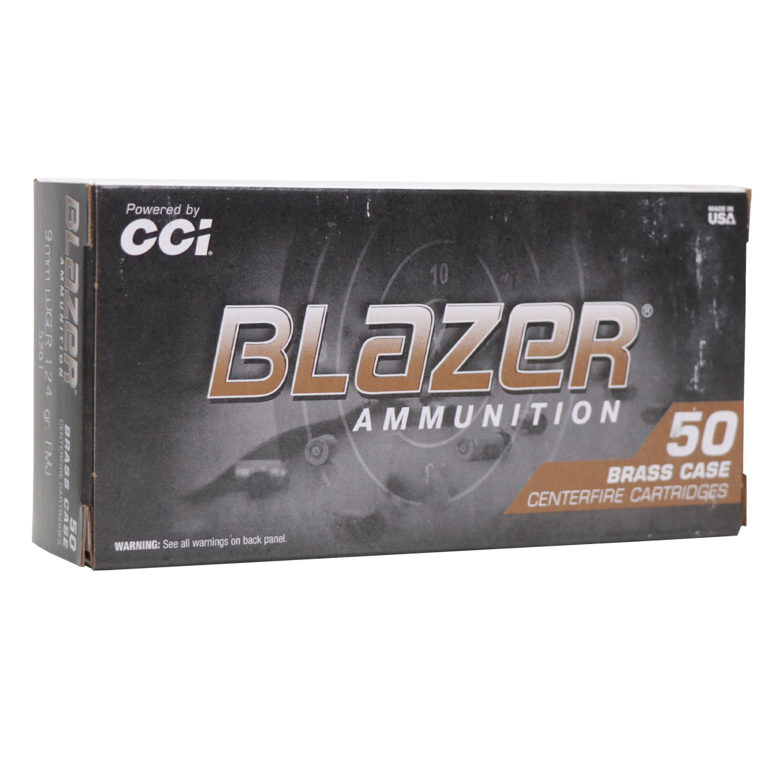 Munição CCI 9mm Blazer FMJ