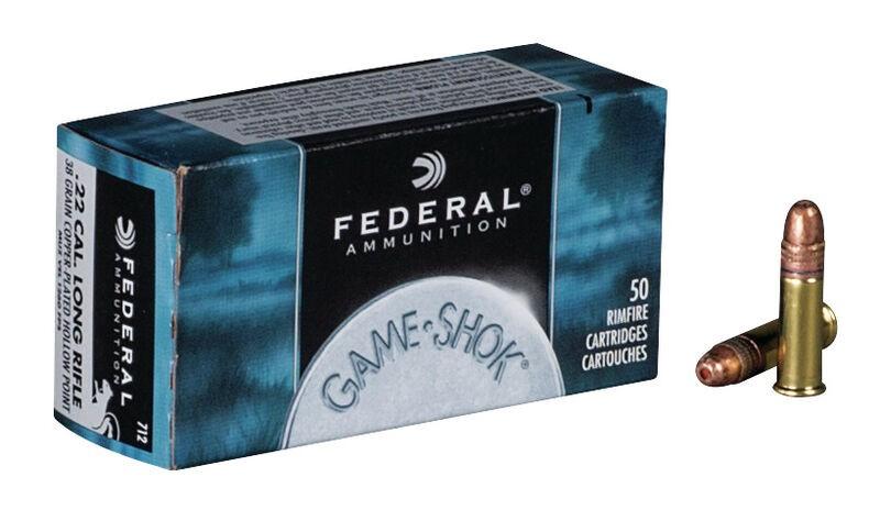 Munição Federal 22 LR GAME-SHOK COBRE PONTA OCA 31 GR  (VENDA SOB CONSULTA NO WHATSAPP)