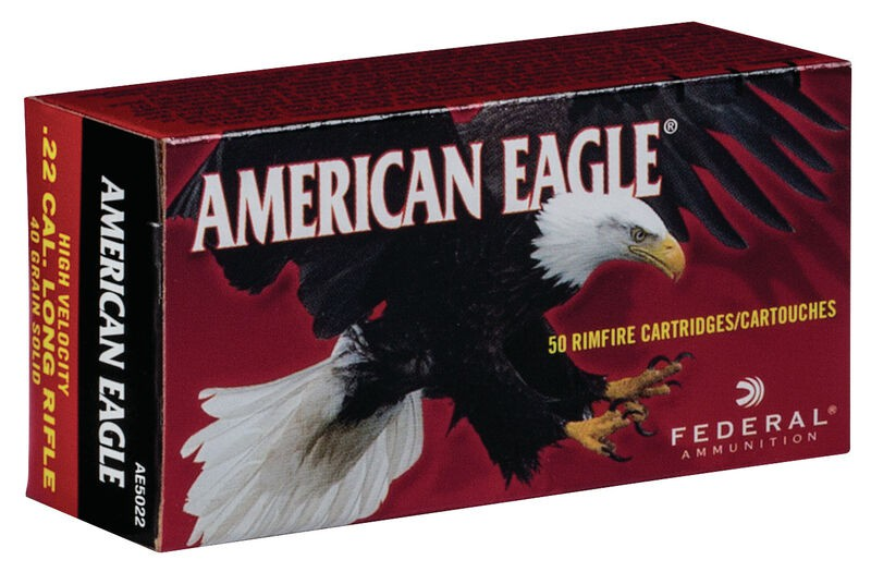 Munição Federal 22LR AMERICAN EAGLE OGIVAL 40GR (VENDA SOB CONSULTA NO WHATSAPP)