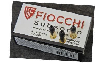 Munição Fiocchi 22 LR Subsonic 38gr (VENDA SOB CONSULTA NO WHATSAPP)