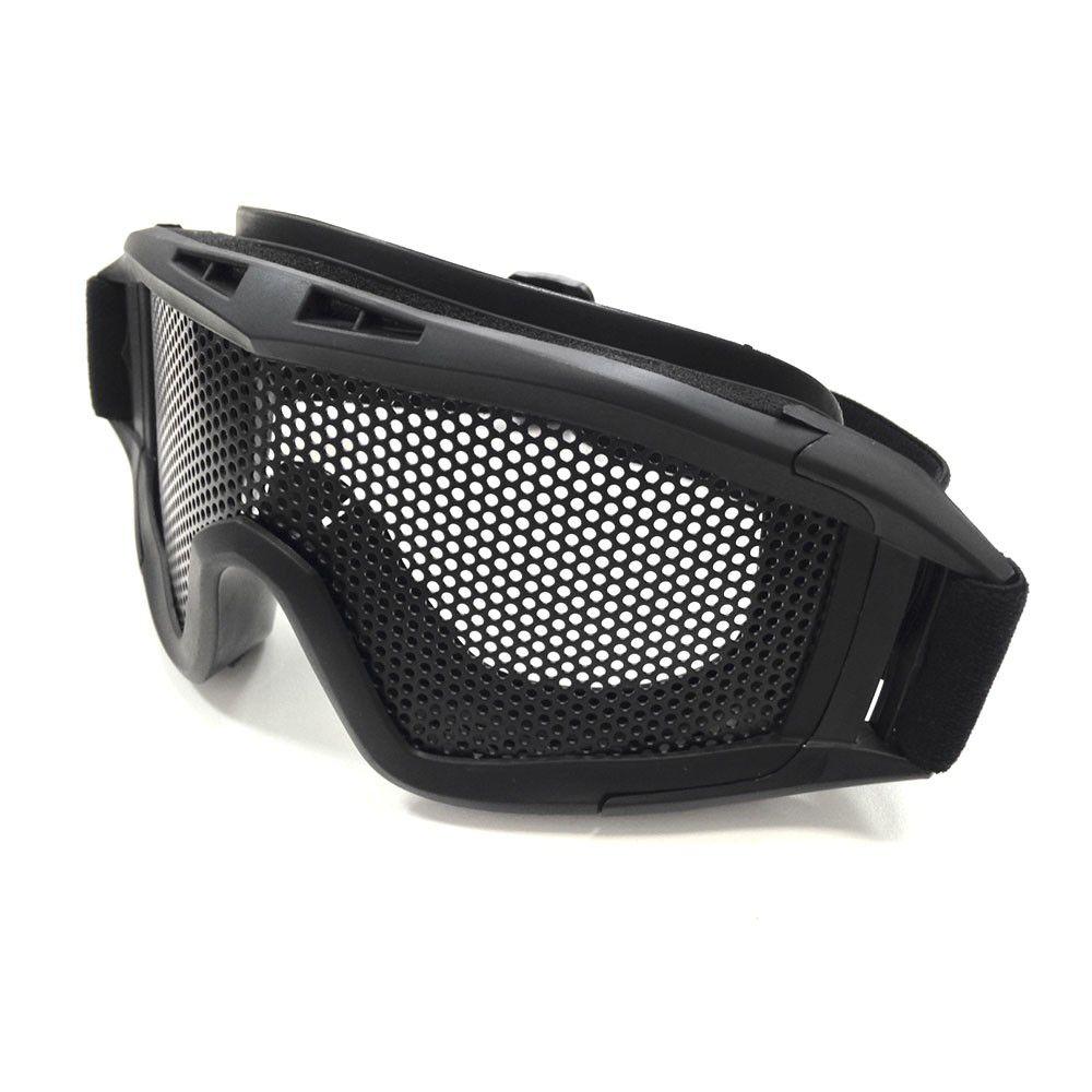 Óculos de Proteção com tela único NTK Tático - Preto