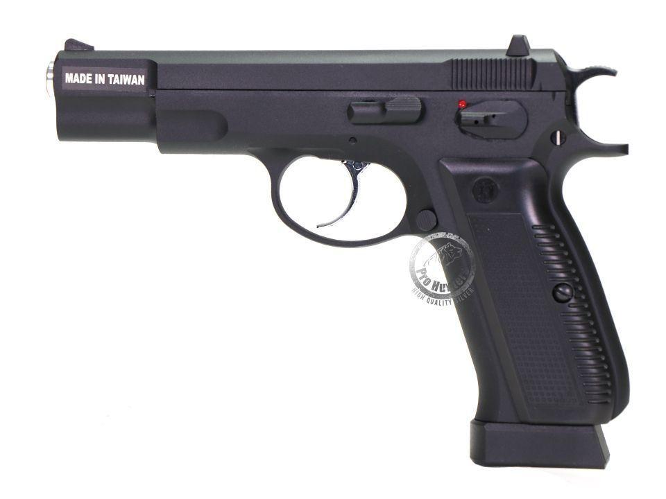 Pistola 4.5mm  Esferas De Aço - CZ 75 KP-09 - Kjw - KjWorks - Co2 - Gás Blow Back (GBB)