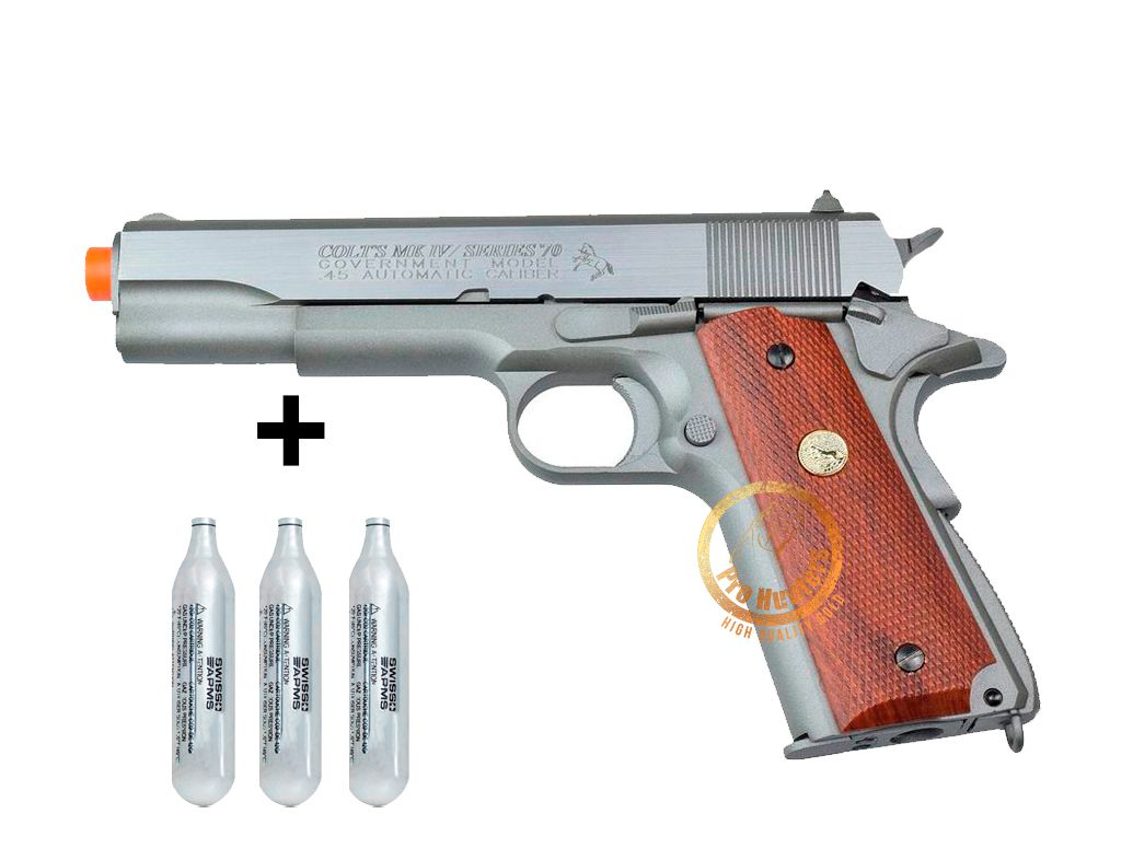 Pistola Airsoft - Colt 1911 SERIES 70™ GBB - CO2 CyberGun 180529