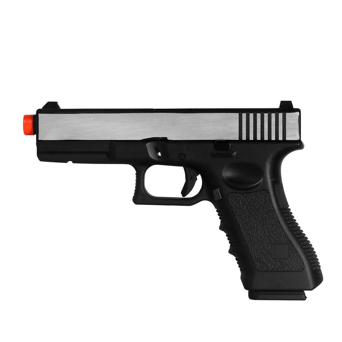 Pistola Airsoft - Glock Double Bell G17 721L Preta Cromada- GBB