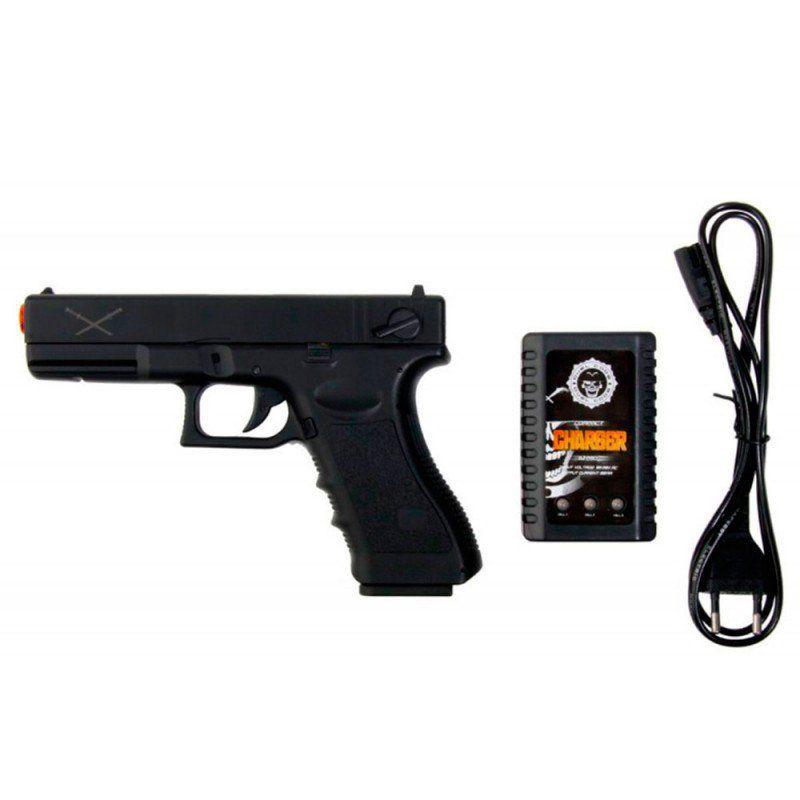 Pistola Airsoft Glock G18 Elétrica Yakuza Lipo Delta Tactics