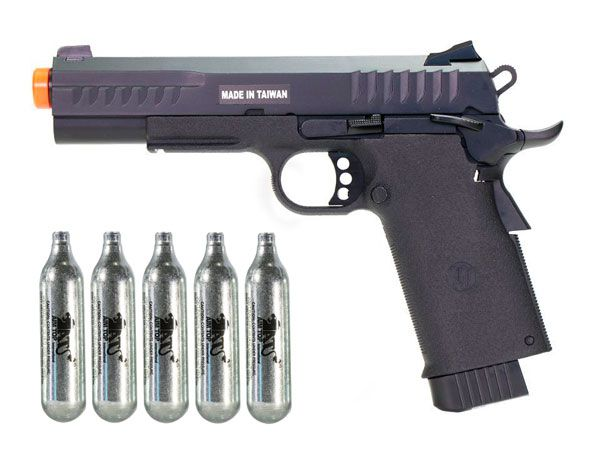Pistola Airsoft - Kjw- KJ Works - Colt 1911 KP08 - GBB - Co2 Full Metal