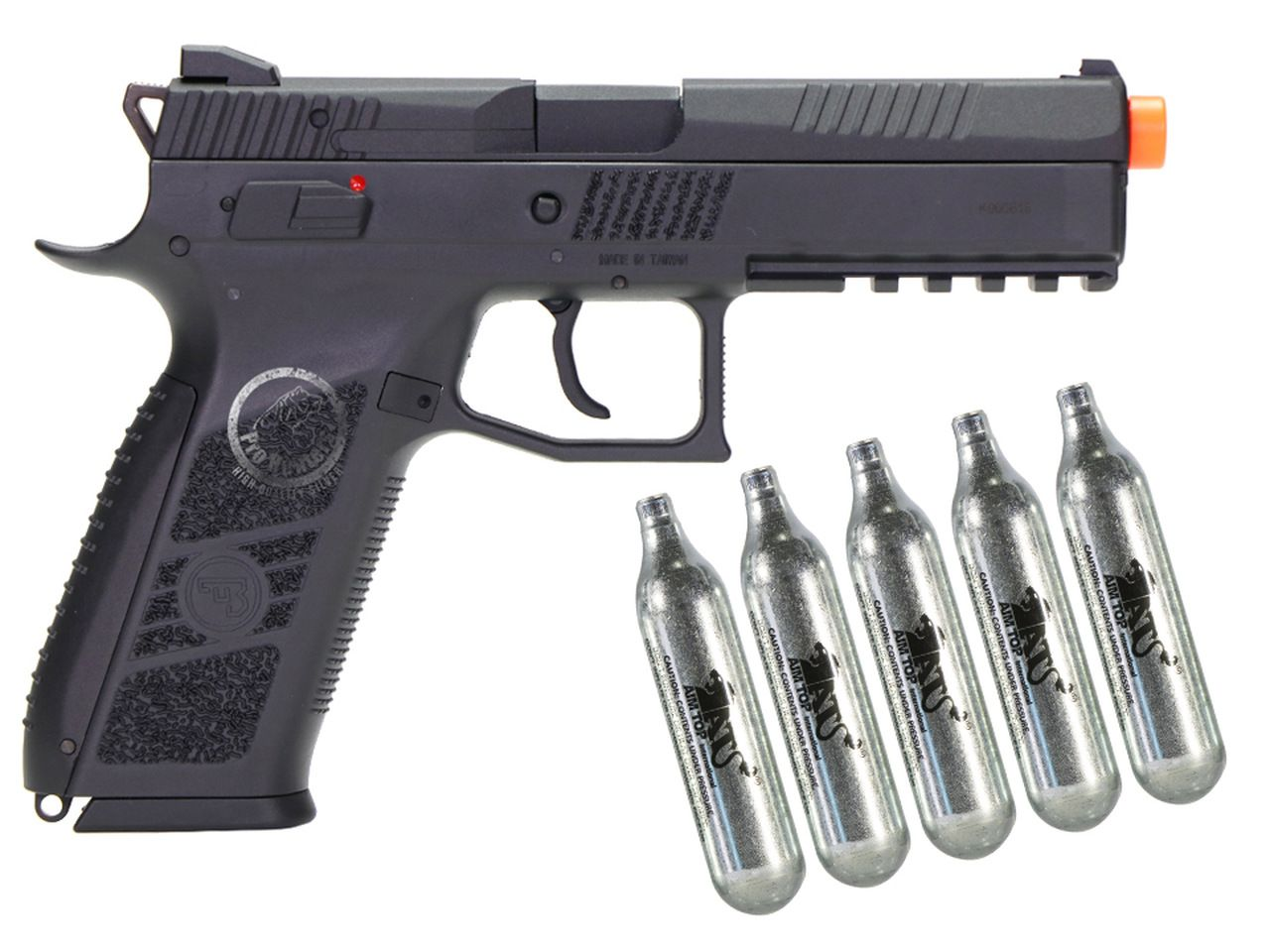 Pistola Airsoft - Kjw - KJ Works - CZ P-09 - GBB - Co2 Full Metal