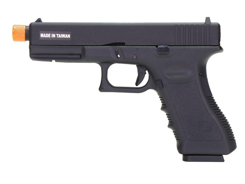 Pistola Airsoft - Kjw - KJ Works - Glock KP17 - Black - GBB - Co2