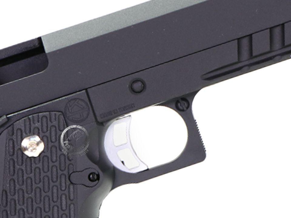 """Pistola Airsoft - Kjw - KJ Works - XCelerator 6"""" - KP06 - GBB - Co2"""