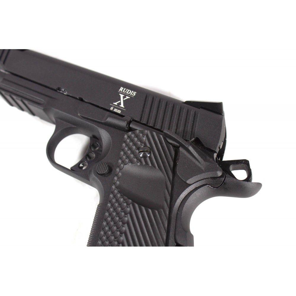 Pistola Airsoft Rudis 1911 GBB Acta Non Verba Secutor - Black