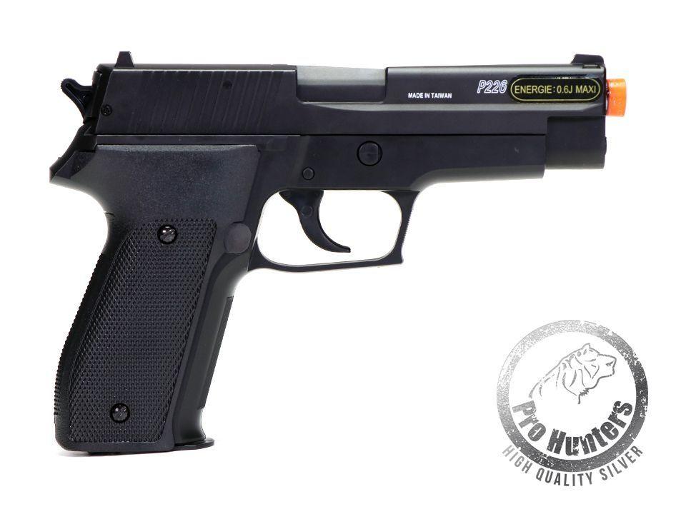 Pistola Airsoft Sig Sauer P226 - Spring Metal Polímero Cybergun 280114