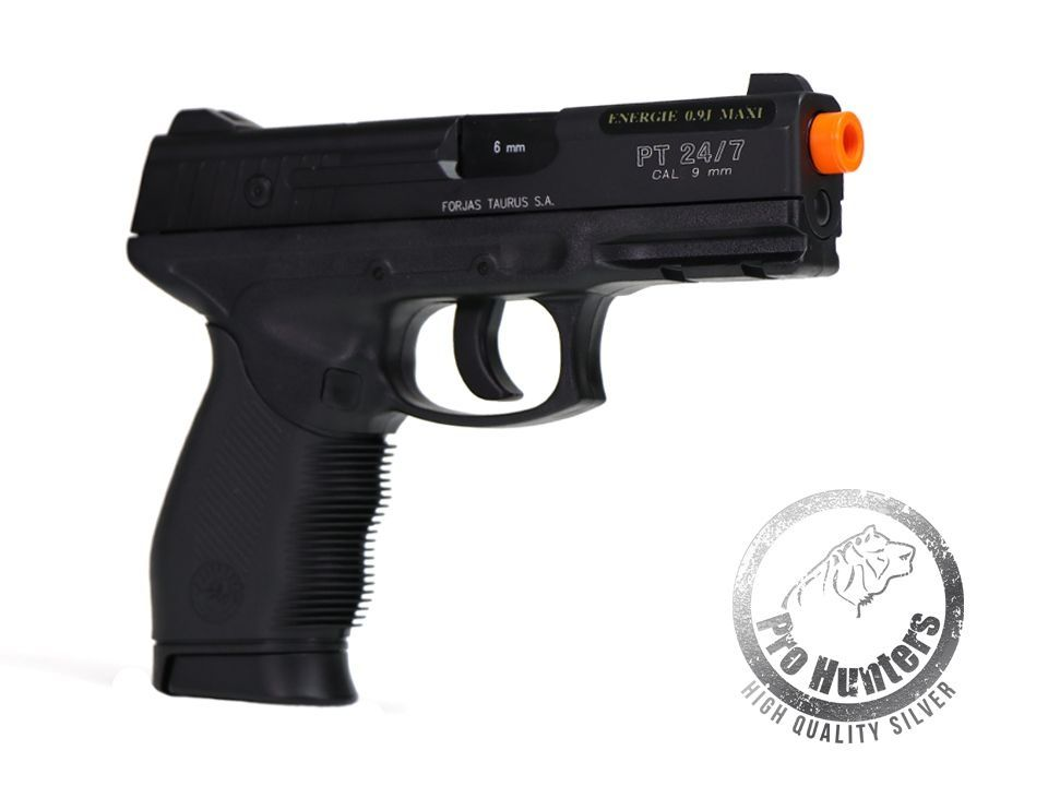 Pistola Airsoft Taurus PT 24/7 NBB / Slide Fixo De Metal Co2 - Cybergun