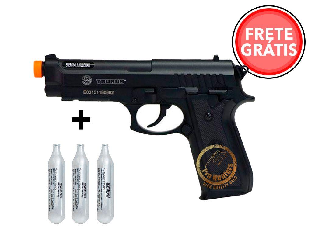 "Pistola Airsoft Taurus PT92 ""NBB / Slide Fixo"" Co2 ABS - Cybergun - FRETE GRÁTIS"
