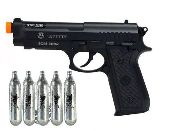 "Pistola Airsoft Taurus PT92 ""NBB / Slide Fixo"" Co2  - Full Metal - Cybergun 210307"