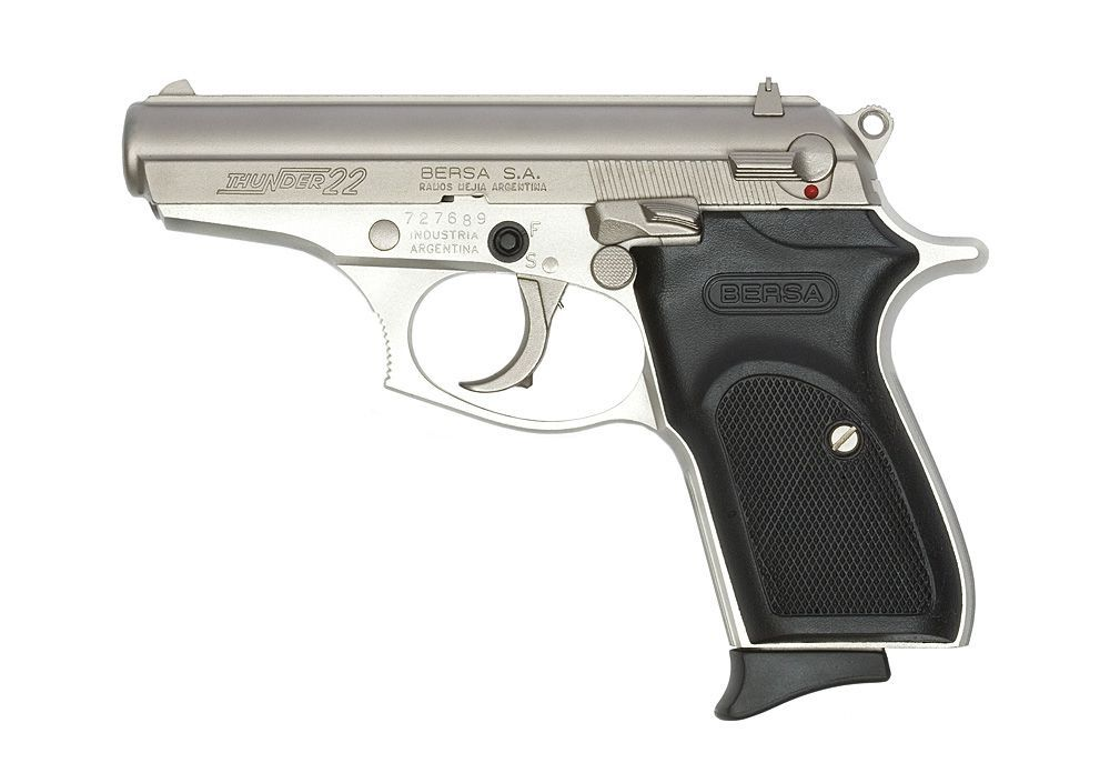 Pistola Bersa - Thunder - Calibre .22 LR - Niquelada