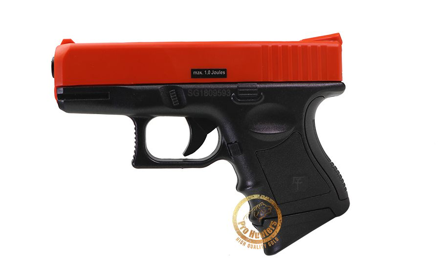 Pistola de Airsoft Spring Glock Saigo 27 - Vermelho