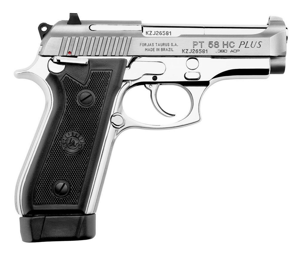 Pistola Taurus PT 58 HC Plus Calibre .380 - Inox