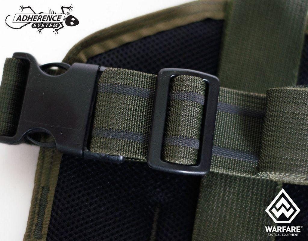 Placa De Perna Warfare - Ambidestra - Verde