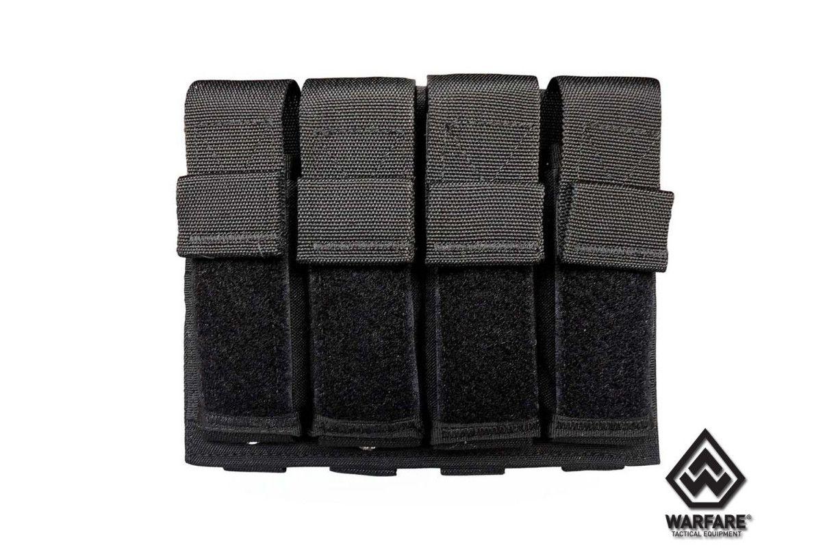 Porta Carregador 4x Pistol  Warfare - Preto