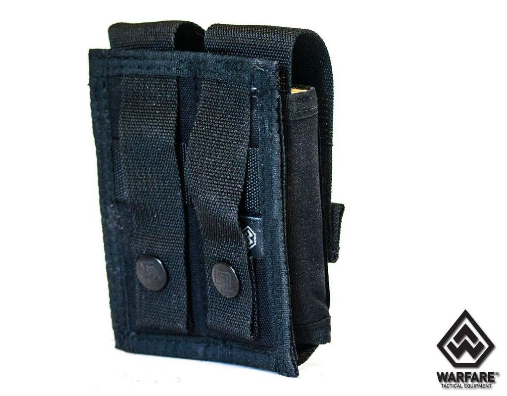Porta Carregador De Pistola 2X Black -  Warfare