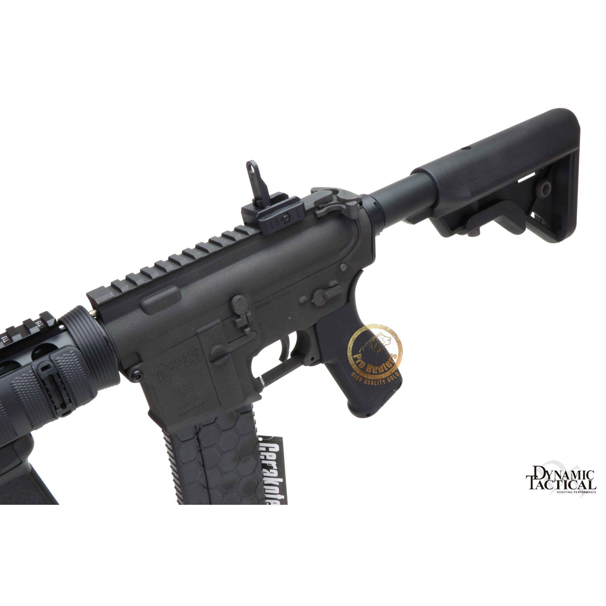 Rifle Airsoft Dytac M4 CQBR RIS 10.5 Polegadas - Black - FRETE GRÁTIS
