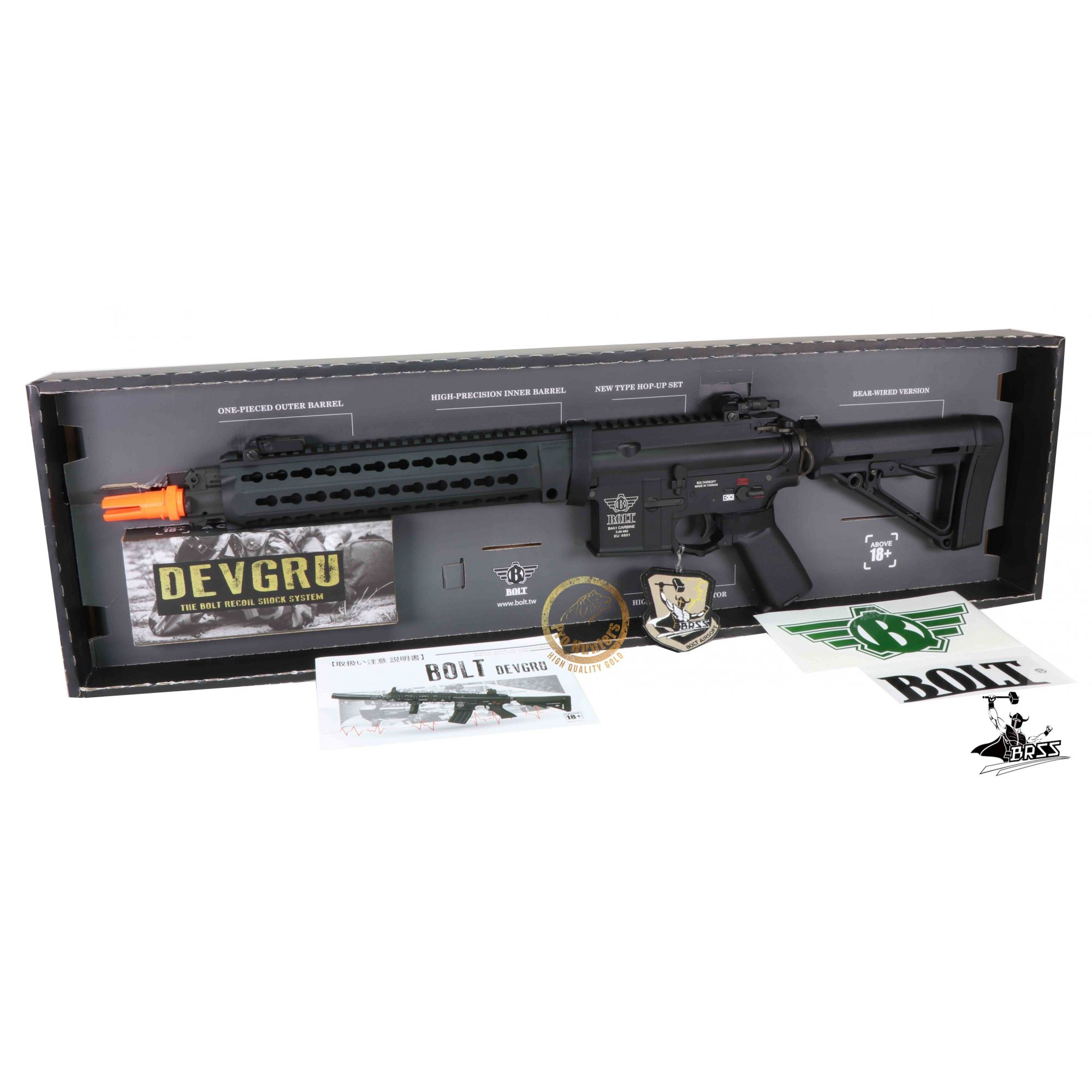 Rifle Airsoft M4 BOLT B4 DEVGRU K12 - Black Full Metal - Blowback & Recoil System