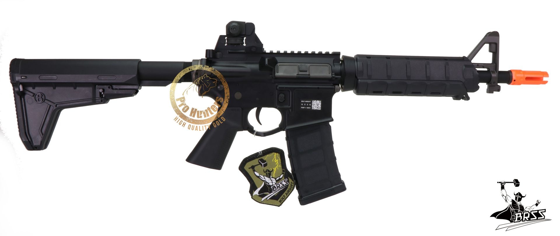Rifle Airsoft M4 BOLT B4A1 ELITE SD - Black Full Metal - Blowback & Recoil System - FRETE GRÁTIS
