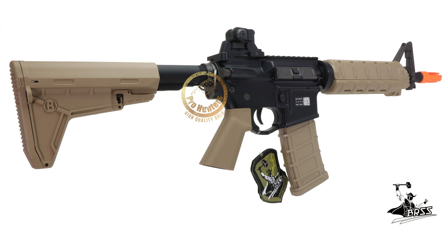 Rifle Airsoft M4 BOLT B4A1 ELITE sd - TAN Full Metal - Blowback & Recoil System - FRETE GRÁTIS