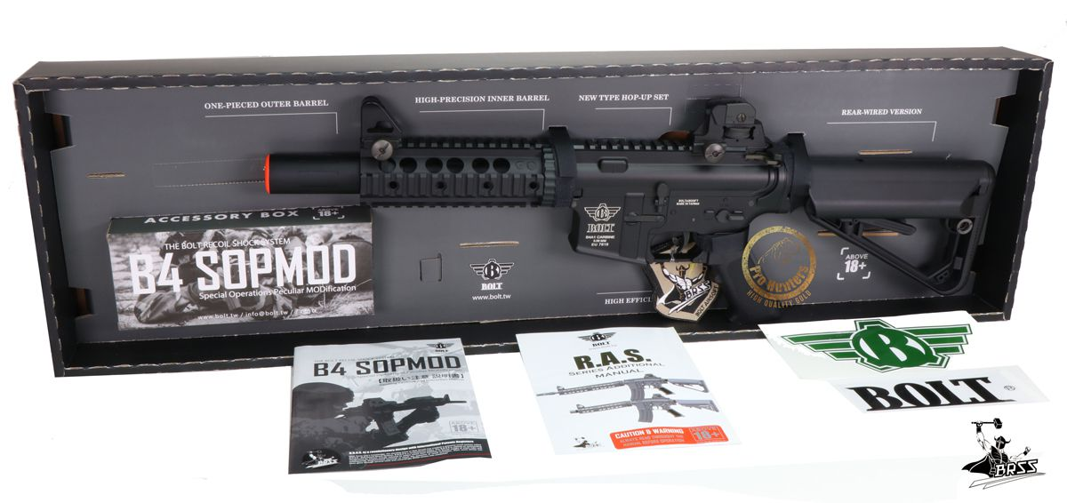 Rifle Airsoft M4 Bolt B4TSD Ris Full Metal - Blowback & Recoil System