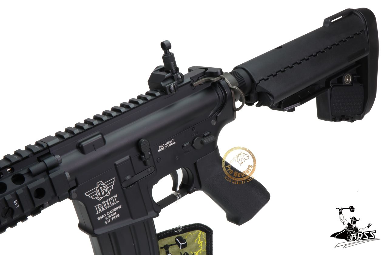 Rifle Airsoft M4 Bolt MK18 SOPMOD  - Black Ris Full Metal - Blowback & Recoil System
